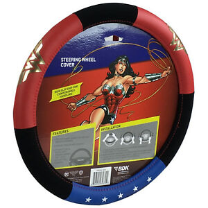 New Dc Comics Wonder Woman Star Car Truck Synthetic Leather Steering Wheel Cover