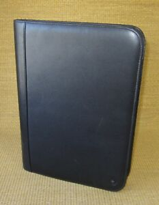Monarch Size Black Leather Franklin Covey Notepad smartphone Holder Folio