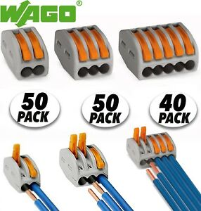 140pcs Wago Lever nuts 2 3 5 Conductor Terminal Block Compact Wire Connector