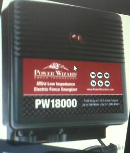 Electric Fence Charger 18 Joule Power Wizard 300 Miles 30 00 Discount