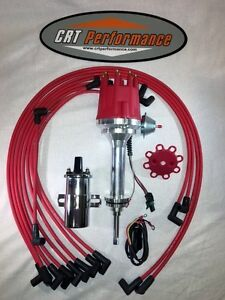 Mopar 413 426 440 Red Pro Series Small Cap Hei Distributor 45k Coil Plug Wires