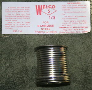 Welco 5 Solder 94 6 94 Tin 6 Silver 1 8 Dia 1 Lb Spool New Old Stock