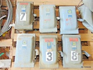 Square D Safety Switch H361 30 Amp 600 Volt Fusible Fuse Disconnect Box Seriesa2