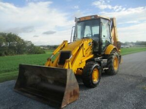 Jcb 215 Tractor Loader Backhoe 4x4 Cab Ext Hoe Gp Bucket W boce