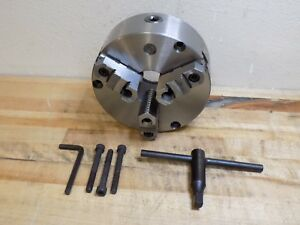 Self Centering 3 jaw Lathe Chuck 8 Diameter Front Mount 2000 Rpm Max