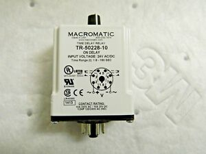 Macromatic Time Delay Relay 24v Ac dc tr 50228 10