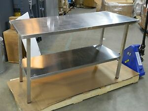 Jamco Fixed Height Work Bench Table 60 X 30 X 35 Stainless Steel uk360