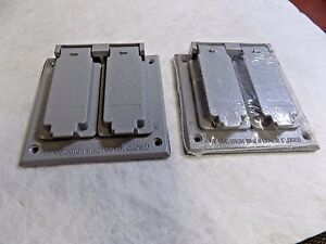 Cooper Crouse hinds Tp7244 Electrical Outlet switch Box Wtherproof Alum Lot Of 2