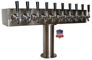 Stainless Steel Draft Beer Tower Made In Usa 10 Faucets Glycol Ready Ttb 10ssg