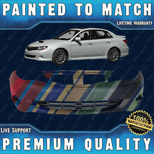 New Painted To Match Front Bumper Direct Fit For 2008 2011 Subaru Impreza Wrx