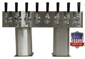 Stainless Steel Draft Beer Tower Made In Usa 8 Faucets Glycol Ready Ptb 8ssg op