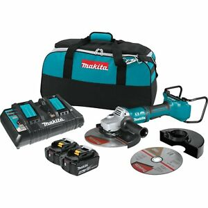 Makita 18v 5 0ah X2 Lxt Lithium Ion Brushless Cordless 9 Inch Angle Grinder Kit