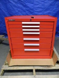 Kennedy 7 Drawer Tool Storage Roller Cabinet Red Steel 1400 Lbs Cap 297r