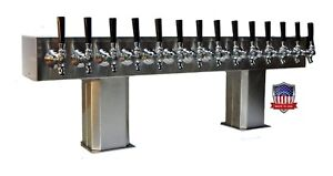 Stainless Steel Draft Beer Tower Made In Usa 14 Faucet Glycol Ready ptb 14ssg op