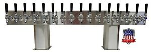 Stainless Steel Draft Beer Tower Made In Usa 16 Faucet Glycol Ready ptb 16ssg op