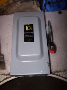 Square D 60 Amp Non fused Safety Switch 600 Vac 60 Hp 3 Phase Hu362