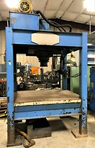 9709 100 Ton Hydraulic 4 Post Press