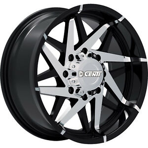 17x9 Black Dcenti Offroad Dw99 M Wheels 5x5 12 Lifted Fits Jeep Wrangler