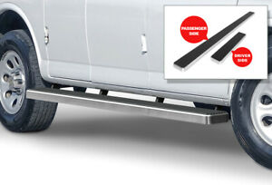 Iboard Running Boards 5 Inches Silver Fit 03 20 Chevy Express Gmc Savana