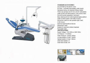 Dental Unit Chair Computer Controlled A1 Hard Leather 110v 4 hole Us Shipping Ho