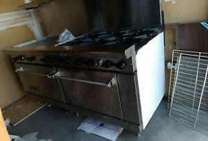 American Range Industrial Restaurant Oven Stove Griddle Hot Plate Surface