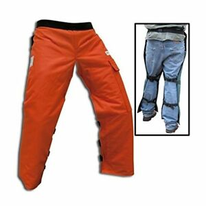 Forester Chainsaw Safety Chaps With Pocket Apron Style 35 Orange