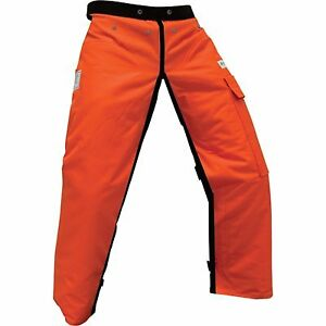 Forester Chainsaw Safety Chaps With Pocket Apron Style 40 Orange