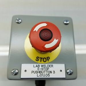 Lighted Emergency Stop Button Station