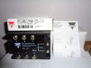 Carlos Gavazzi 3 Phase Ac solid State Relay Rs302240 25 24 Io 25a 115 200vac New