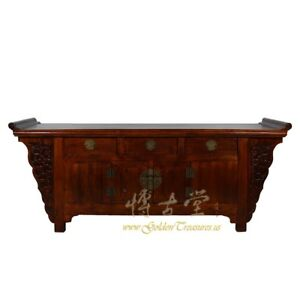 Chinese Antique Carved Sideboard Buffet Table 18lp31