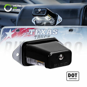 Black 12v Dc Surface Mount Dot Led License Plate Light For Trailer Utv Atv Truck