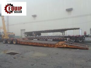 2002 50 Ton Load King Low Boy Rgn Equipment Flatbed Step Deck Trailer 3 Axles