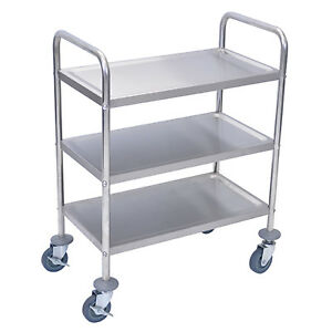 Luxor L100s3 37 h Stainless Steel Cart With Three Shelves