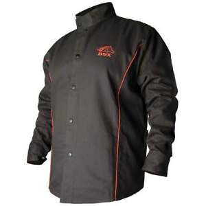 Black Stallion B9c Bsx Contoured Fr Cotton Welding Jacket Black red Medium