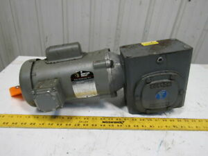 Boston Gear 34k35 5422 80 1 1 2hp 115 230v 21 56rpm Lh Output Gear Motor