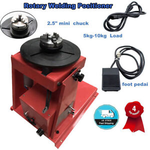 110v 2 5 Auto Rotary Welding Positioner Turntable Table 3 Jaw Lathe Chuck Us