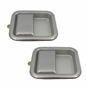 For 1997 2006 Jeep Wrangler All Chrome Front Outside Exterior Door Handle Pair