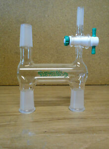 Chemglass Cg 1235 56 Distilling Adapter Double 24 40 Joints 1 2 Swagelock