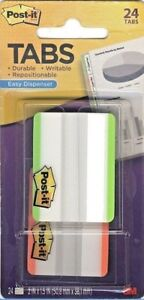Post it Note Tabs Notetabs 2 x1 5 Easy Dispenser Assort Neon 24 Pk 686f 24lot