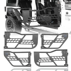 4pcs Body Armor Off Road Front Rear Tubular Doors For 2007 2018 Jeep Wrangler Jk