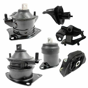 For 2004 2005 Acura Tsx Base 2 4l Fwd Engine Motor Trans Mount Set 6pcs