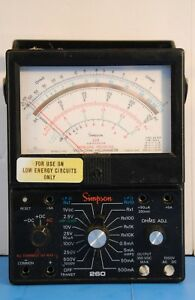 Used Simpson 260 Meter Series 6xlpm Volt ohm Milliammeter In Case