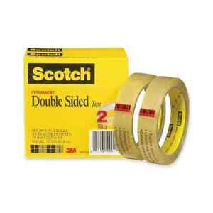 Scotch Double sided Transparent Tape pack Of 2