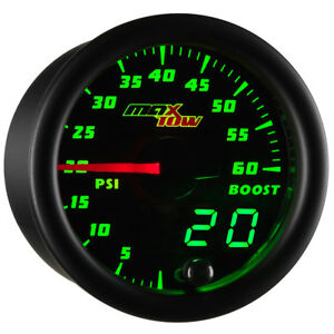 52mm Maxtow 60psi Diesel Turbo Boost Gauge Meter Kit W Double Vision Display