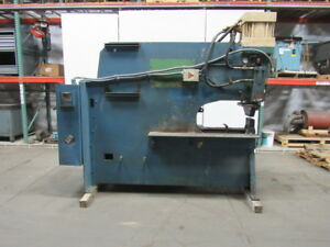 Peddinghaus 175 Ton Hydraulic C Frame Punch Press 30 Throat Iron Worker 480v