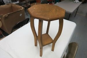 Mission Arts And Crafts Linen Oak Stool Plant Stand Side Table 19 Tall