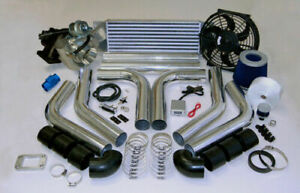 485 hp psi Boost T3 Universal Intercooler Piping Filter Turbo Charger Kit Fan