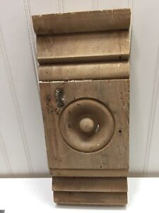 Vintage Wood Plinth Blocks Trim Door Architectural Bulls Eye Molding 23437