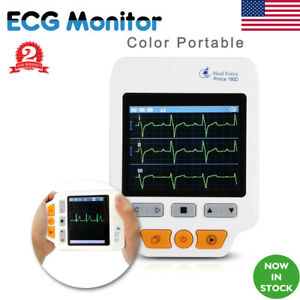 Heal Force Color Portable Ecg Monitor With Ecg 50lead Cables Lcd Ecg Electrodes