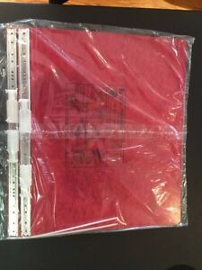 New Lot 10 Sets Accodata Binder Pressboard Covers 14 7 8 X 11 Red